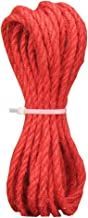 Colored Jute Twine Jute String for Making Craft Project, 5mm - 32 ft, Red