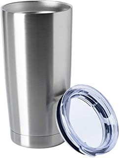 HASLE OUTFITTERS 20oz Tumblers Stainless Steel Mugs with Lid Double Wall Vacuum Insulated Coffee Cups for Cold & Hot Drinks 1 Pack Stainless Steel