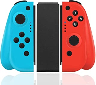 Wireless Controller for Nintendo Switch, Replacement Joy-Con Joystick Supports Gyro Function, Double Vibration Ergonomic J...