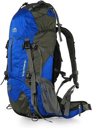 SMBYLL 40L   50L Sac à Dos Sac à Dos Unisexe approprié pour la randonnée en Montagne en Plein air Sac à Dos en Plein air (Couleur   bleu, Taille   60cm×32cm×17cm)