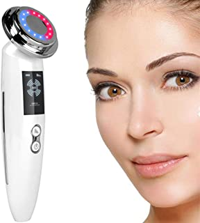 5 in 1 Facial Massager Face LED Light Skin Care Beauty Device, Photon Skin Rejuvenation Apparatus, Skin Rejuvenation/Anti-...