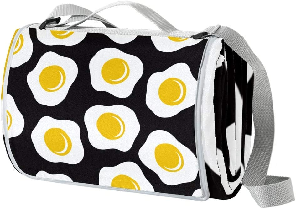 XJJUSC Fried Eggs Extra Large Cheap Blanket Plus Thick Picnic Beach Max 42% OFF