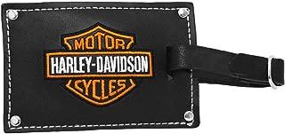 Harley-Davidson Belted Black Leather Luggage Tag Set (No Size)