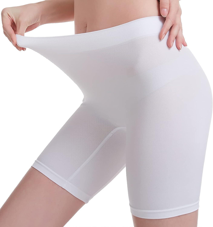 MELERIO Women's Slip Shorts, Comfortable Boyshorts Panties, Anti-chafing Spandex Shorts for Under Dress