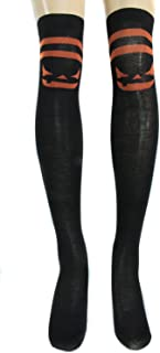 Boo! Women's Halloween Theme Over the Knee Socks
