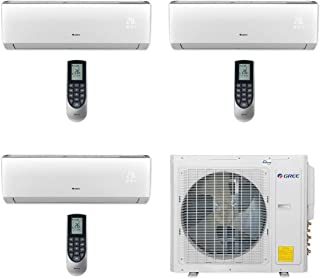 GREE MULTI30CLIV302-30,000 BTU Multi21+ Tri-Zone Wall Mount Mini Split Air Conditioner Heat Pump 208-230V (9-9-18)