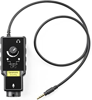 Saramonic SmartRig II Profesión Adaptador de Audio Guitarra Interfaz Preamplificador para iPhone, iPad, Mac/PC y Dispositivo Android