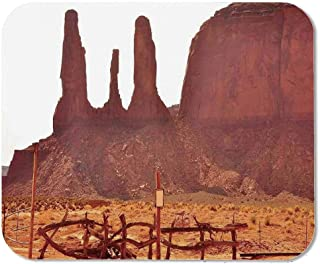 House Decor Custom Mouse Pad,Scenic Archaic Monument Valley on Western Desert Odd Formation of Rock and Cliff Print for Electronic Games Office,11