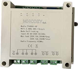 220 V 4 canales WiFi inalámbrico inteligente interruptor módulo de relé para Smart Home, trabajo con Alexa, & Google Home ...