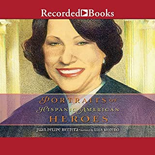 Portraits of Hispanic American Heroes audiobook cover art
