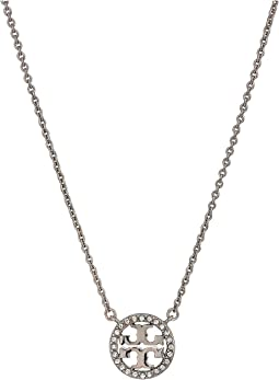 Crystal Logo Delicate Necklace