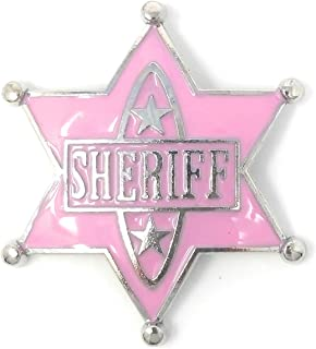 Sheriff Badge Cowgirl Costume for Girls and Rodeo Shirts for Women - Party Favors, Halloween Costume Pink
