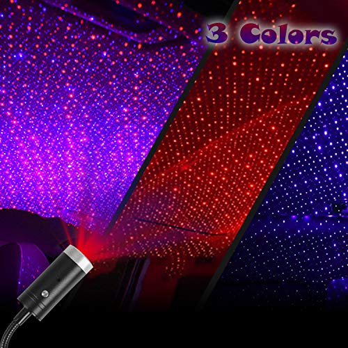 Car Star Light Projector Auto Rotating Music Control, 3Colors & 9 Lighting Modes, Adjustable...