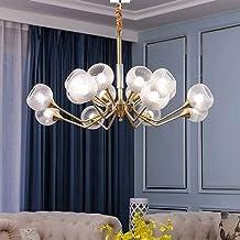Chandelier-Light Luxury Modern Minimalist Living Room Lamp Bedroom Creative Personality American Restaurant Full Copper Chandelier 100 * 53CM Well-Made