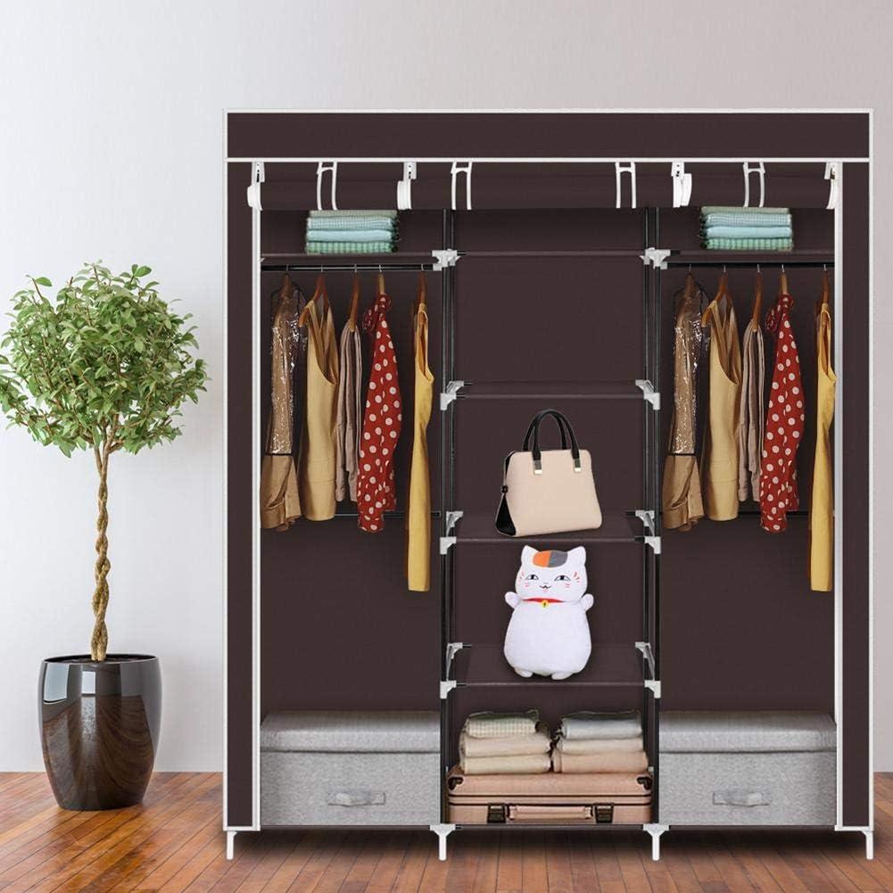 MOJIEZUO 69'' Portable Closet Free shipping on posting reviews Wardrobe C Portland Mall Non-Woven Fabric