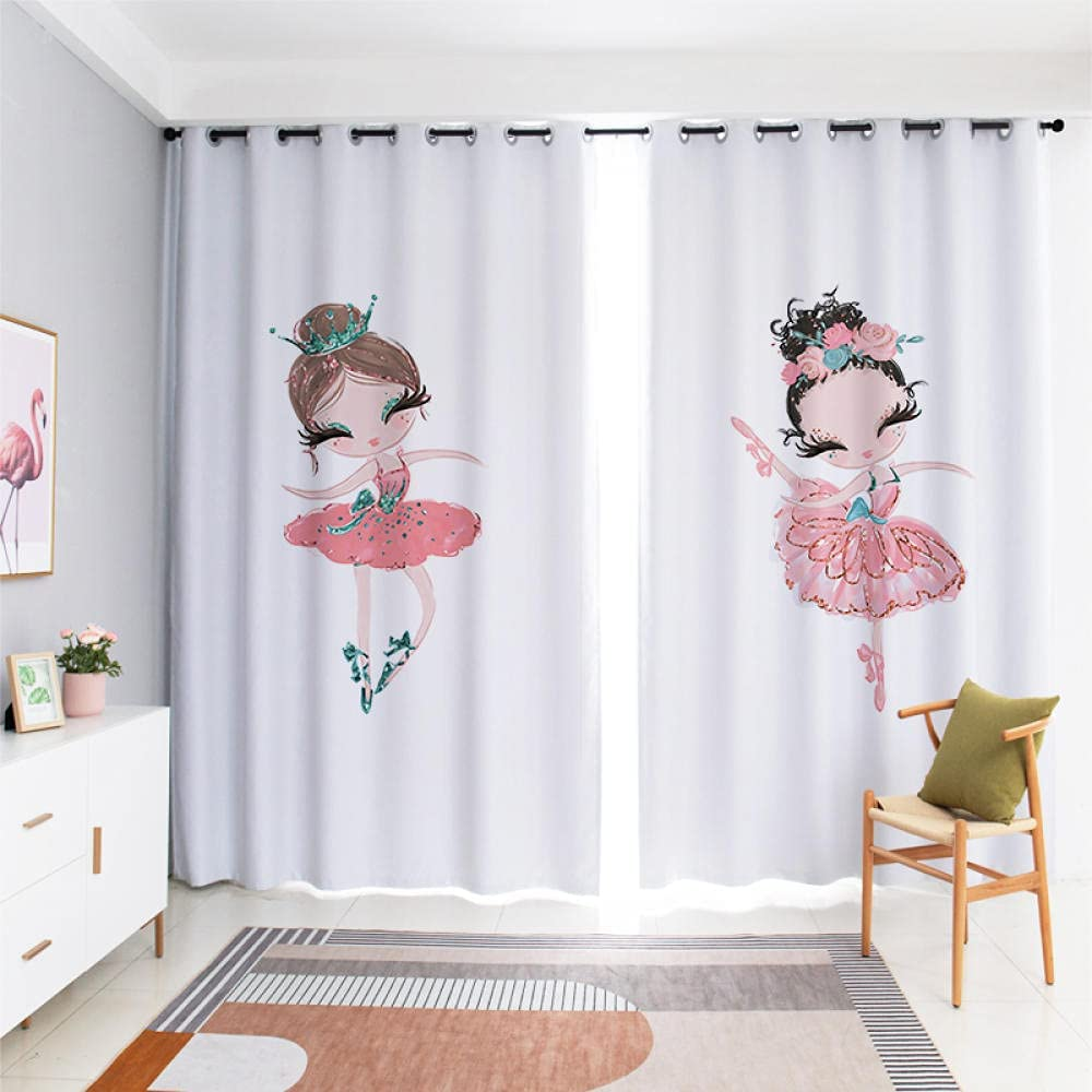 Today's only Cartoon Curtain for Kids Curtains 2 Bedroom Home Over item handling Panels Deco