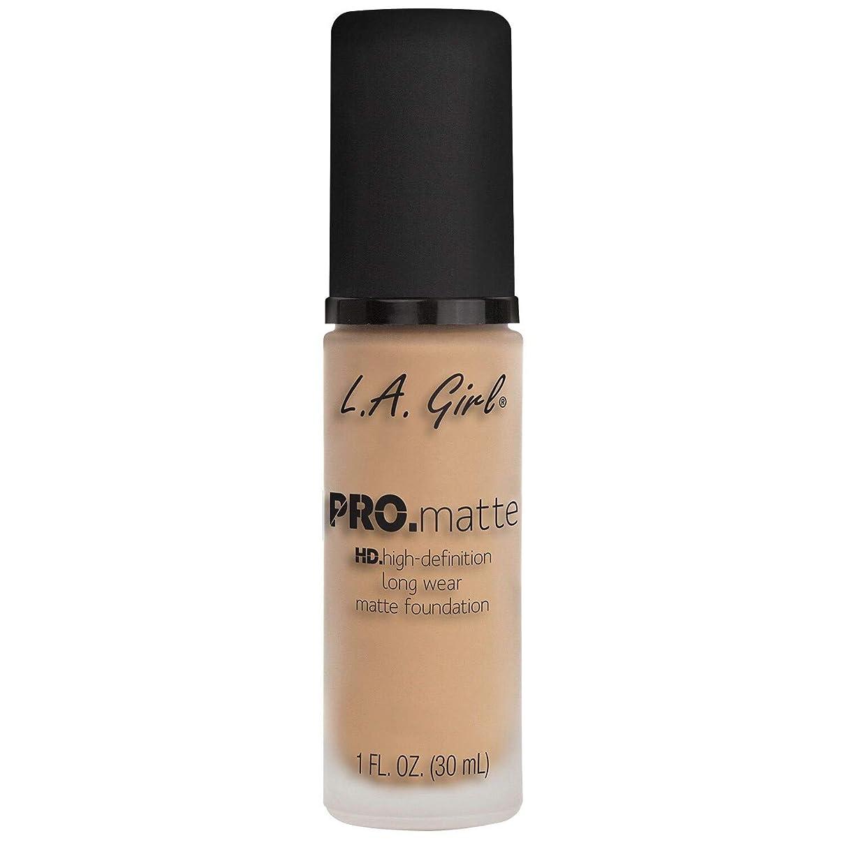 呼び起こす唯物論免除する(3 Pack) L.A. GIRL Pro Matte Foundation - Nude (並行輸入品)