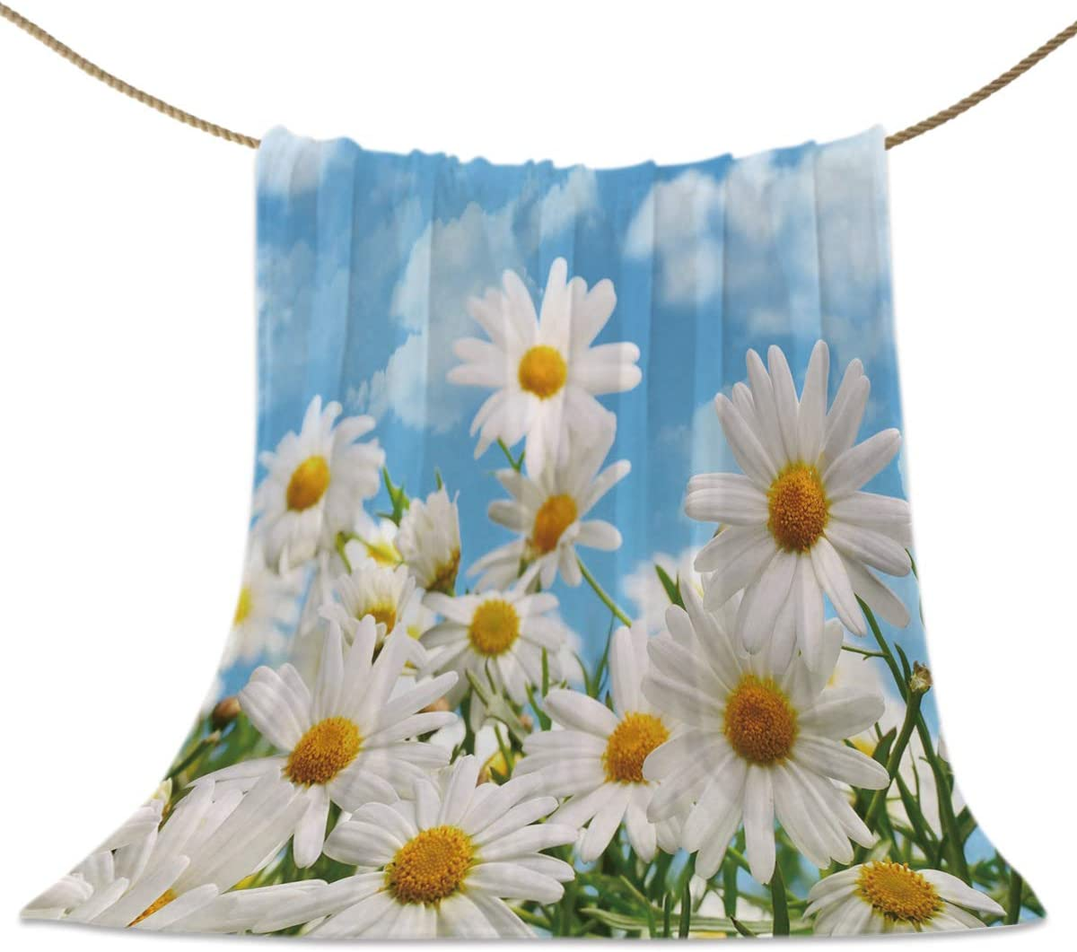 Throw Blankets Daisy Flowers Field 付与 Fuzzy 品質保証 Bedsprea Bed Cover Soft