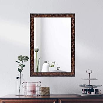 AG Crafts Wood Decorative Wall Mirror (Brown)