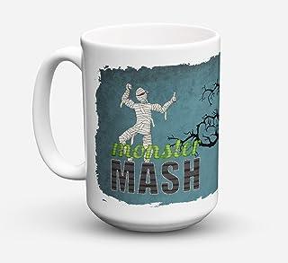 Caroline's Treasures SB3019CM15 Monster Mash with Mummy Halloween Dishwasher Safe Microwavable Ceramic Coffee Mug 15 ounc...