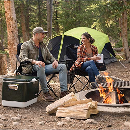 61VgpB5DRyL - Coleman Camping Chair with 4 Can Cooler | Chair with Built In 4 Can Cooler, Black