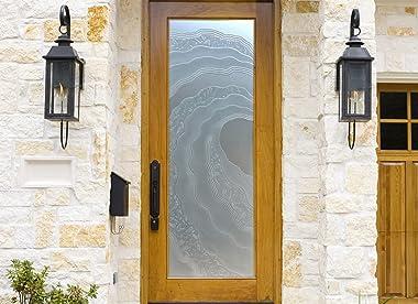 SANS Soucie - / Interior Door - Metacurl - 3D Enhanced Frosted - Oceanic / Primed