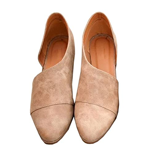 e2a2e6ebea8b Nulibenna Womens Casual Slip-On Loafer Pointed Toe Cut Out Slip on Ankle  Boot