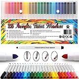 25 Acrylstifte Arcylic Paint Marker Wasserfest Paint Marker Set Wasserfest Permanent Art Filzstift