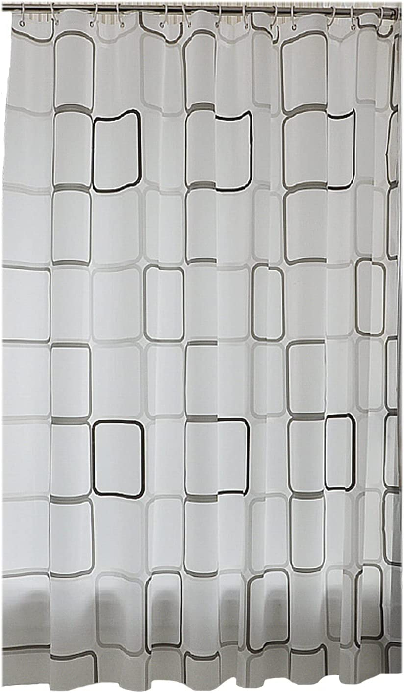 Super sale period limited FPKK Simple Checkered Decorative Shower Bathroom Pol Curtain Japan Maker New for