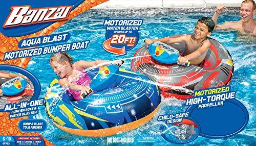 Banzai Aqua Blast Motorized Bumper Boat - Blue