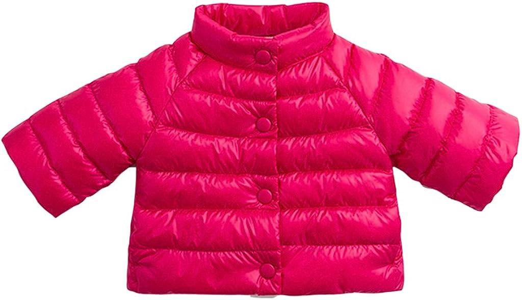 marc janie Little Girls' Winter Ultra Light Down Jacket Baby Girls Outerwear