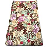 DDHHFJ Hand Towels Tempting Dessert One by One Highly Absorbent Quick-Dry Towels for Kitchen Gym and SPA 12' X 27.5'
