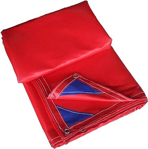 Baches LAOSUNJIA imperméable extérieure en Plastique de (Couleur   rouge, Taille   4  8M)