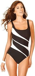 Women's Swimwear DD-Cup Helix Underwire Scoop Neckline Tummy Control One Piece Swimsuit