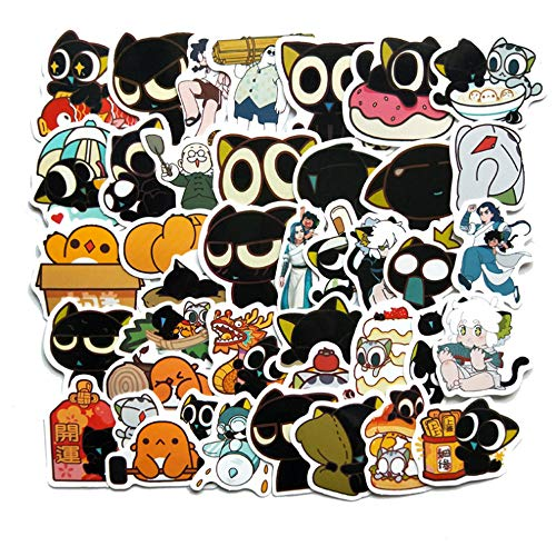 40 Stks Cartoon Kat Sticker Snowboard Waterdichte Laptop Bagage Winkelwagen Koelkast Auto Styling Vinyl Decal Home Decoratie