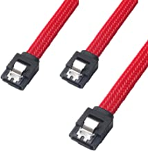 MomoGo 3PACK SATA Cable III 3 Pack 6Gbps Straight HDD SDD Data Cable with Locking Latch 18 Inch for SATA HDD, SSD, CD Driver, CD Writer, Red