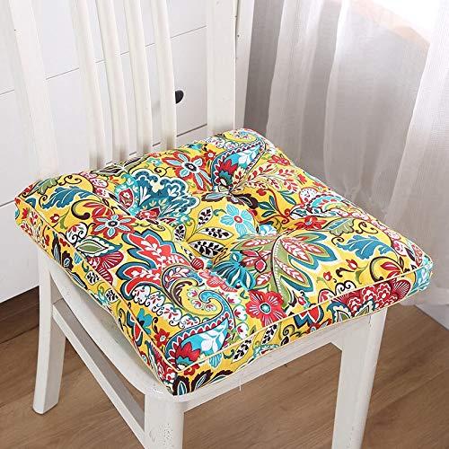 Cojín estampado Tatami para decoración del hogar, sofá, respaldo de flores, cojín cuadrado para asiento de jardín, color 2, especificación: alrededor de 43 x 43 cm