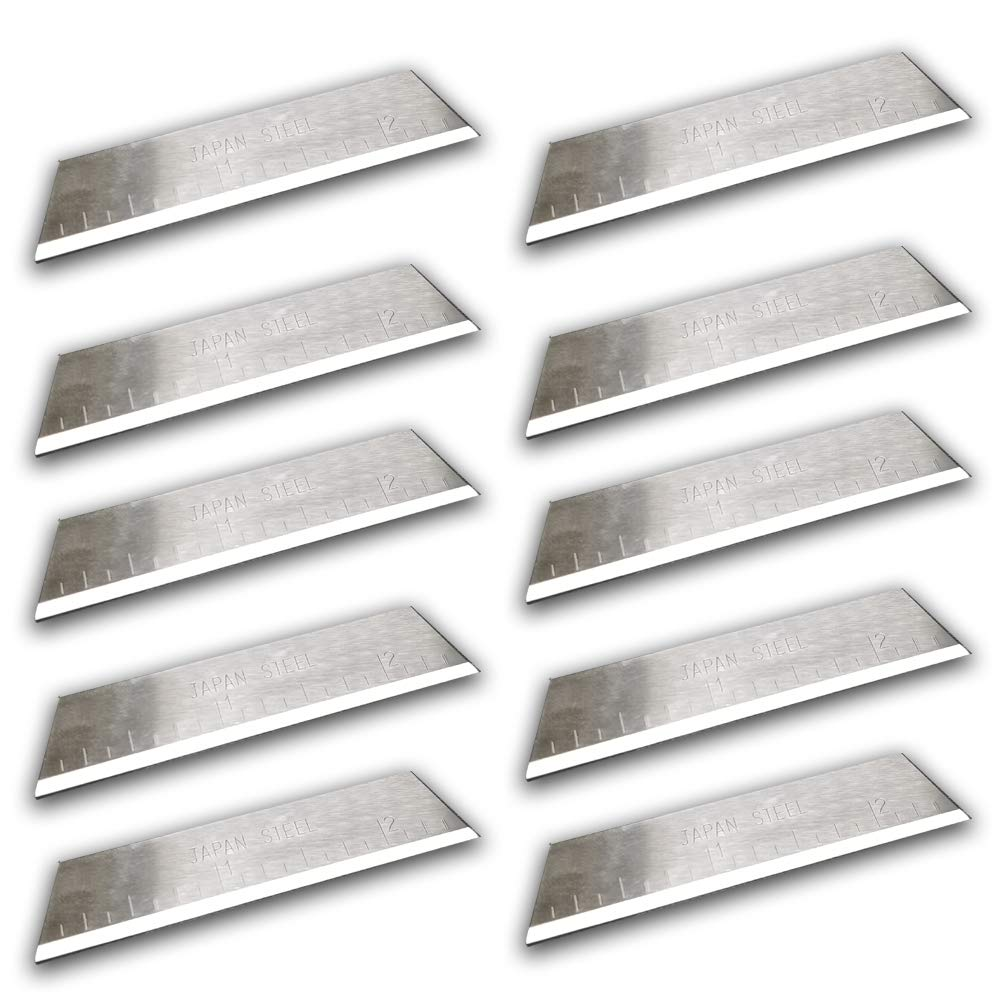 "MTP Pack of 10 2-1/2"" Replace Blade for Craftsman Ronan Handi-Cut 37300 37310 37252 Non OEM Japan Steel"