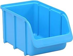 hünersdorf f Zichtbox/stapelbox/opslagbox in maat 3, stapelbaar, kleur: blauw