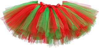 Holiday Tutu Skirts for Women Elastic Waist Fluffy Layered