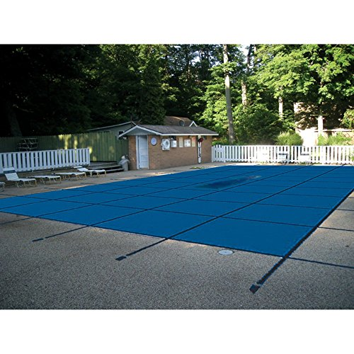 Price comparison product image WaterWarden Safety Inground Pool Cover,  Fits 12 x 24,  Solid Blue (with Center Drain Panel) Easy Installation,  Triple Stitched for Maximum Strength,  Includes All Needed Hardware,  SCSB1224
