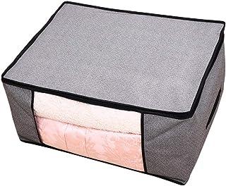 Cabilock – Bolsa de armazenamento grande de tecidos não tecidos com zíper, dobrável, bolsa de armazenamento de roupas, cob...