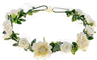 Love Sweety Girls Boho Rose Floral Crown Wreath Wedding Flower Headband Headpiece