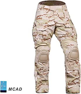Elite Tribe Airsoft Hunting Tactical Pants Combat Gen3 Pants with Knee Pad Multicam Arid
