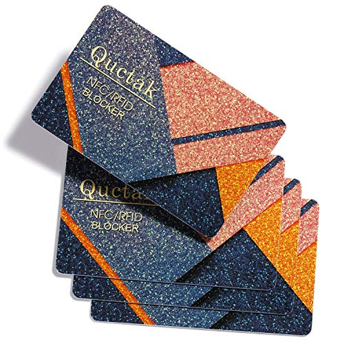 4 Pcs RFID Blocking Card | NFC Credit Card Shield Protection | Protect Your Entire Wallet | Security Cards for Credit Card | for Men or Women, Credit Card Holder, Wallets (Dust)