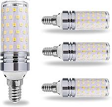4 X LED B15/B22/E12/E16/E17/E26/E27corn Gloeilamp, warm/koud wit keuken licht 3000K/6000K, E14 360 ° stralingshoek Edison ...