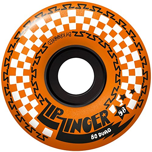 Krooked - Zip Zingers Skateboard-Räder, Orange, 58 mm, 80D