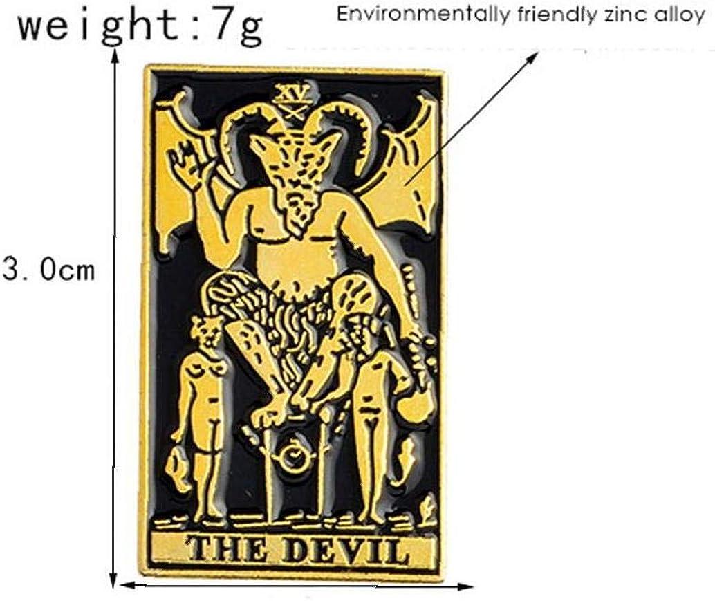 Aisoway El Esmalte Oscuro Pin Satan/ás Satanismo Demon Metal Punk Bruja Mal Pernos de la Broche de Esqueleto g/ótico
