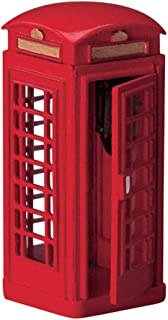 red telephone booth decor