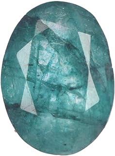 Real Gems 8.00 Quilates Piedra Suelta Esmeralda Verde RARA, Forma Ovalada Esmeralda Suelta facetada, Piedra Preciosa Esmer...